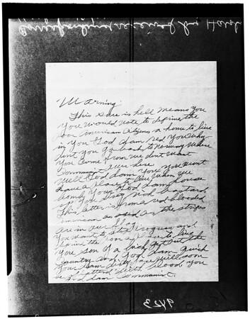 Harold Harby letter, 1951