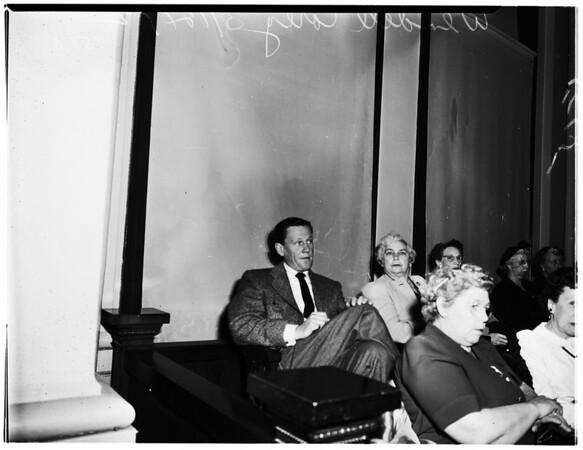 Part of Jury in murder trial of Arthur Zavala, 1952
