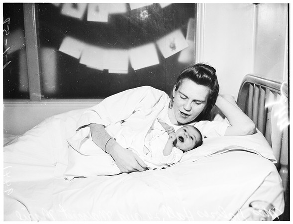 First new year's baby at General Hospital, 1952