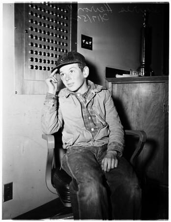 Runaway boy (Inglewood), 1952