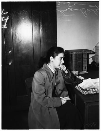 Little girl in juvenile hall, 1952