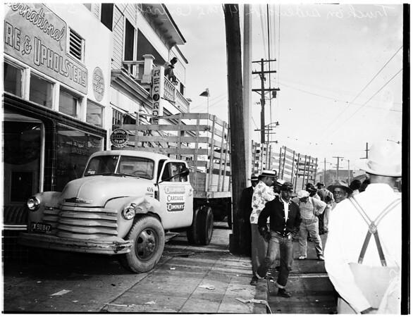 Truck accident, 1952.