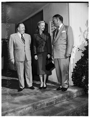 Wyoming Newspaper Men at Twentieth Century Fox, 1951