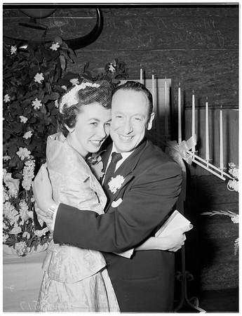 Milliron wedding, 1952