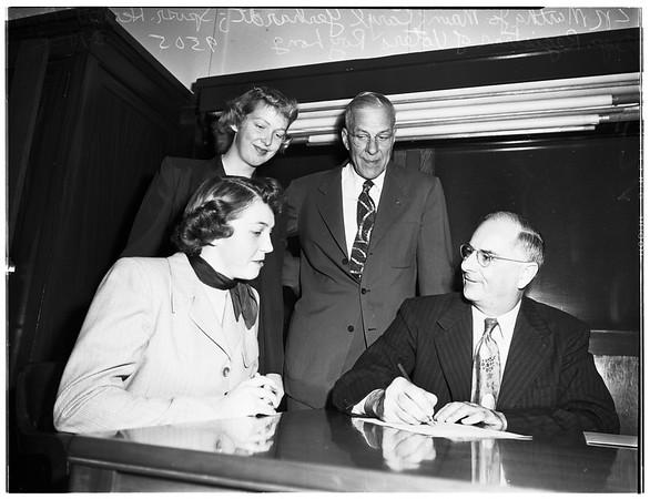 Voter Registration drive, 1952