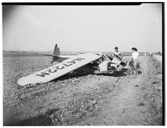 Reckless flyer crashes, 1952.