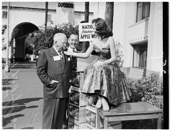 San Joaquin business leaders visit here, 1951