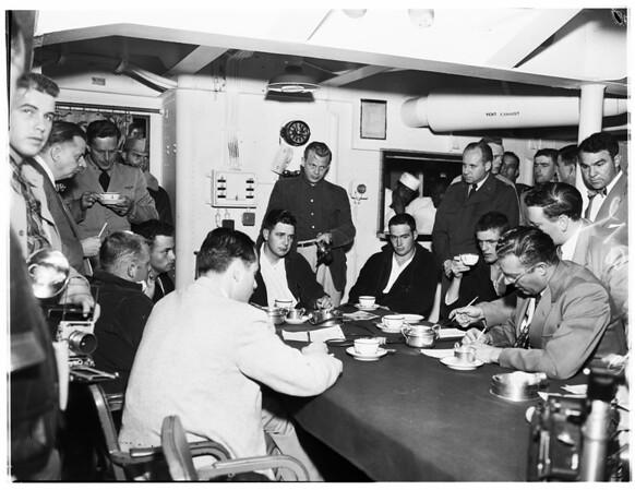 Air crash victims, survivors, 1952.