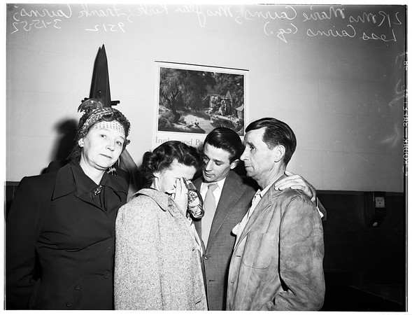 Crimes, murder ...found guilty of mansalughter for shooting of ex-sweetheart, Virginia Thomason (not in picture), 1952