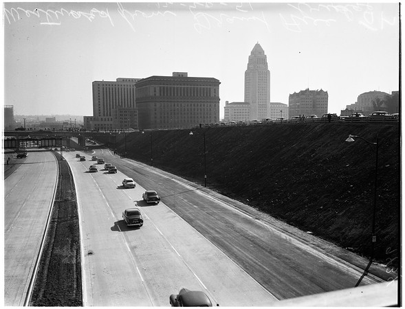 Freeway Link Open to Civic Center, 1951