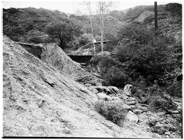 Fllintridge flood damage, 1952