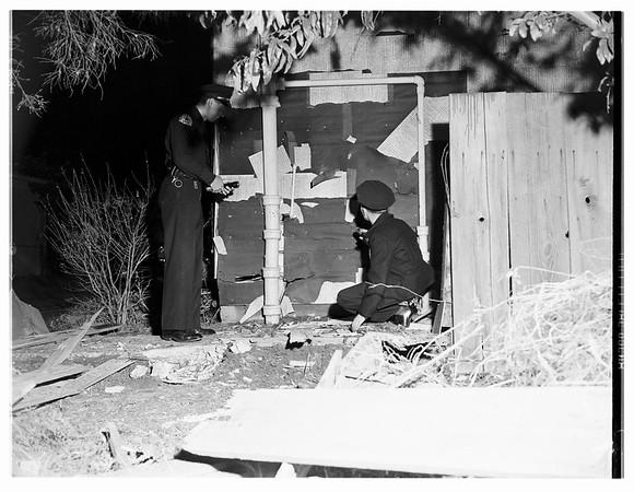 Explosion ...1720 Washington Avenue, Santa Monica, 1951