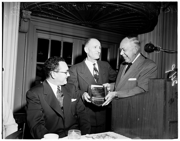 Truck drivers of the year banquet, 1952