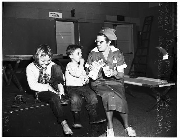 Red Cross shelter (Reseda center), 1952