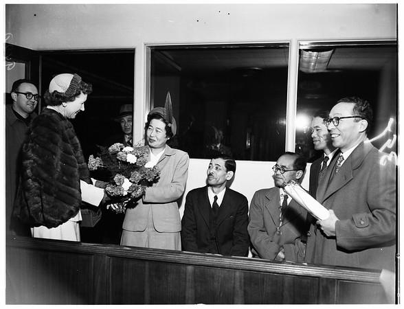 Visiting Japanese educators, 1951