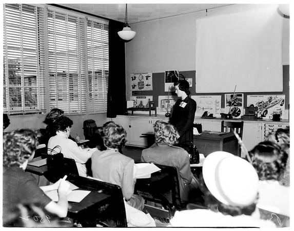 Girls' League Federation convention at San Pedro High School, 1952