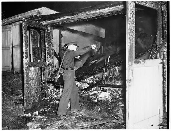Garage fire at 2518 Reservoir Street, 1952