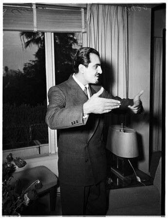Interview at Beverly Hills Hotel, 1951