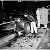 Auto accident at 8th Street and Main Street, 1952