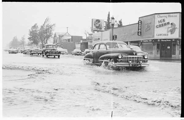 Rain... Sherman Oaks, 1952