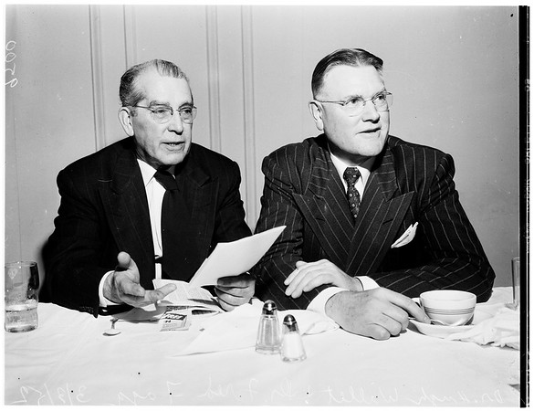 Sports writers luncheon at Biltmore Hotel, 1952
