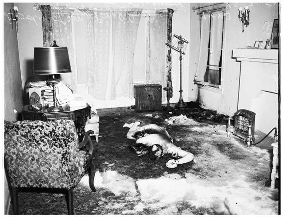 Fire at 2535 Longwood Avenue ...fell asleep while smoking ...housecoat caught on fire ...died, 1951