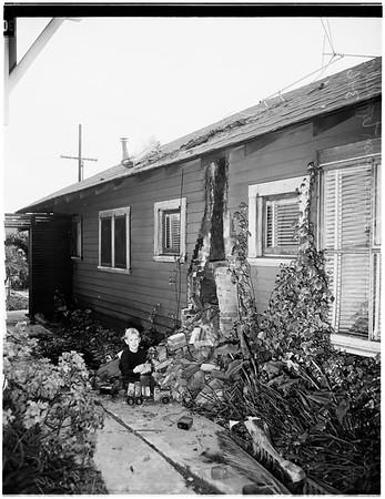 Santa Monica tornado damage, 1952