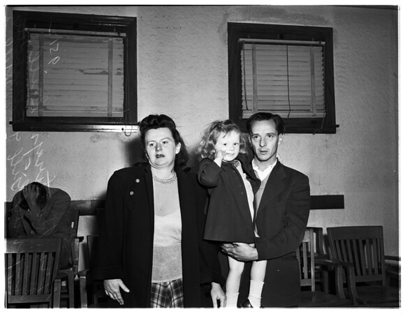 Robbery suspect and family, 1952