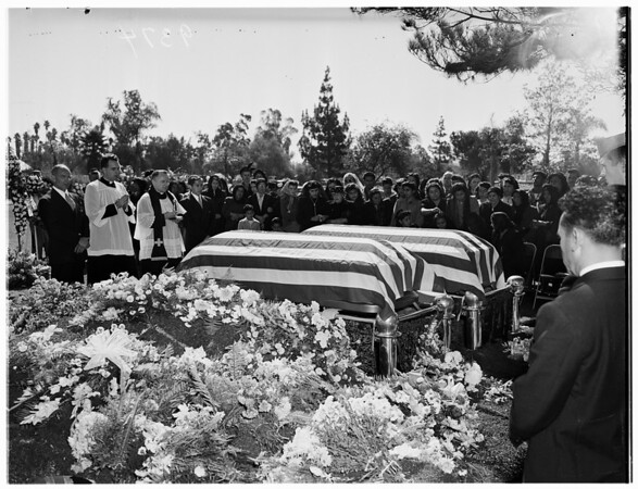 Double Military Funeral ...Private First Class Robert Olvera and Victor Manuel Lopez, 1951