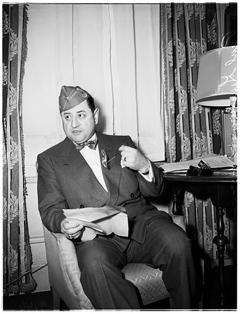 Press conference (Biltmore Hotel), 1952