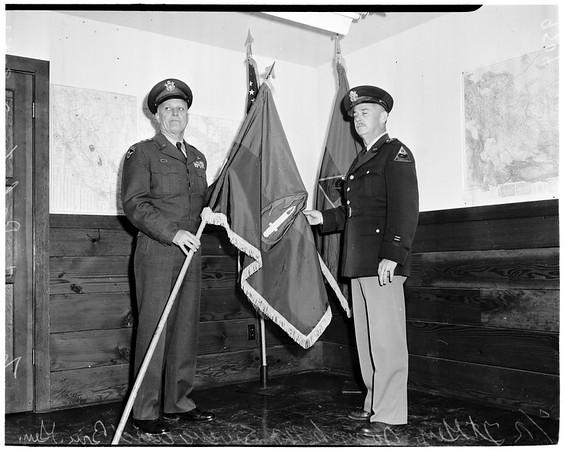 Flag presentation, 1952