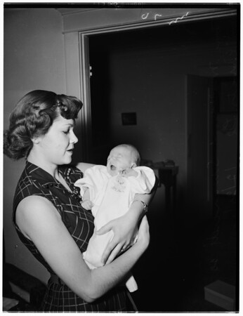 Swancutt baby (picture sent to Corporal William T. Swancutt with the 40th), 1951