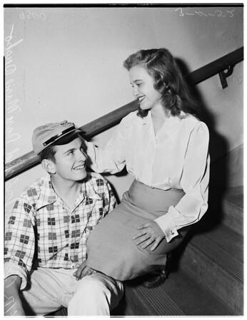 Confederate hats story (Dana Junior High School), 1952