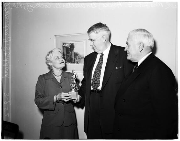 Boy Scout award, 1952
