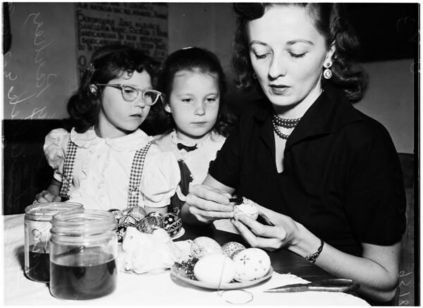 Easter eggs, 1952
