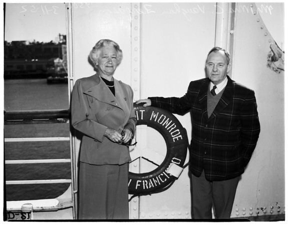 Former President of National Girls Scouts Council and husband, 1952