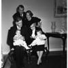 Jimmy Stewart babies christened, 1951