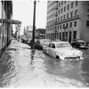 Highwater in downtown Los Angeles, 1952
