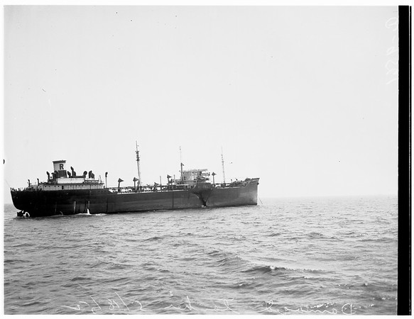 Damaged tanker, 1952.