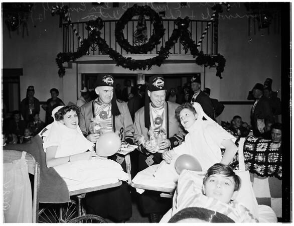 Shrine Christmas Party at Orthopaedic Hospital, 1951