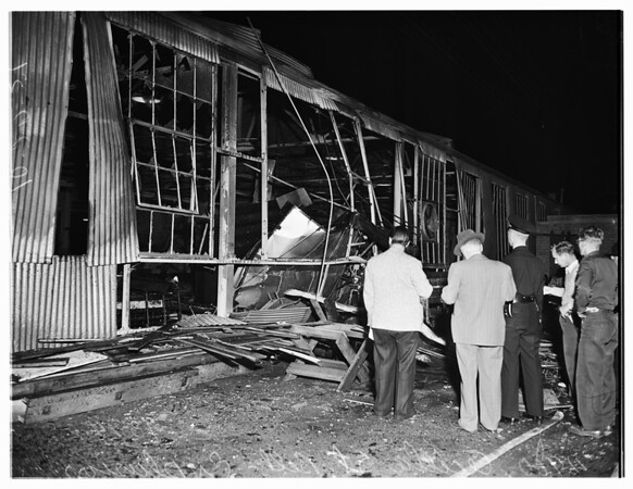 Explosion at Douglas Branch Plant, 4900 Cecilia Street, Bell Gardens, 1951