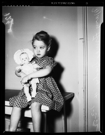 Abandoned child at juvenile hall, 1952