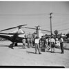 Helicopter Has Forced Landing, 1951