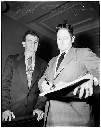 Deaf mute robbery, 1952