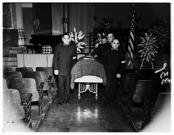 Salvation Army funeral, 1952