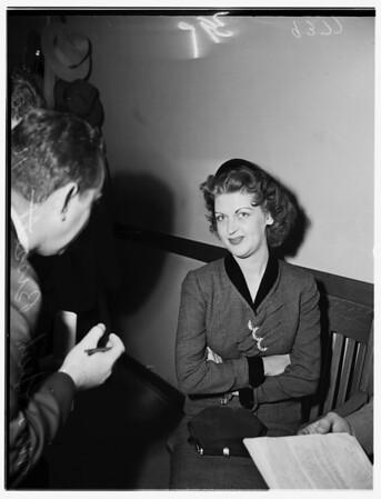Girl traps man, 1951