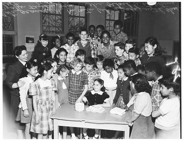 School birthday (West Vernon Avenue Elementary School), 1952
