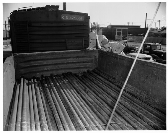 Two Bodies Found in Freight Car (11th Street and Obispo Avenue, Long Beach), 1951