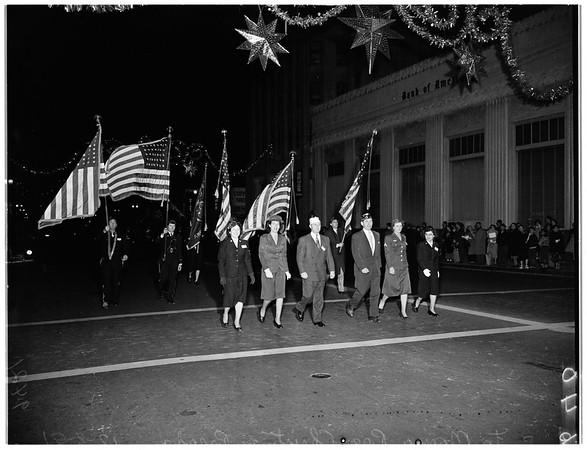 Santa Monica pre-Christmas parade, 1951