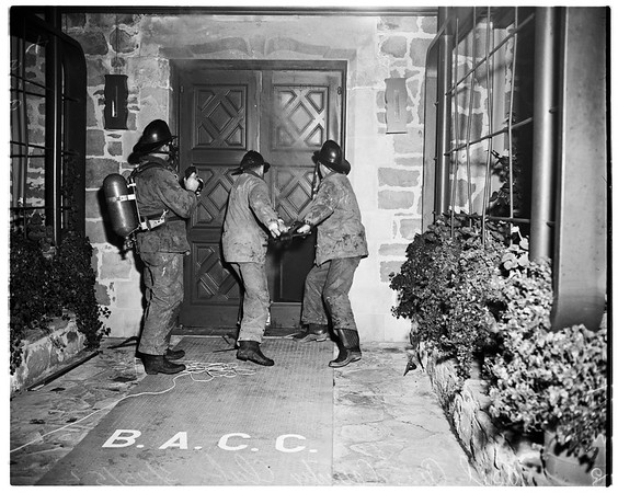 Bel Air Country Club fire, 1952